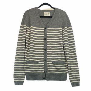 All Saints Wool Stripe Sweater Cardigan